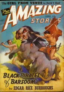 Amazing: June 1941 - Black Pirates of Barsoom (Llana of Gathol) - J. Allen St. John