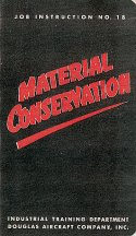 Cover: Material Conservation ~ Douglas Booklet 18 by JCB