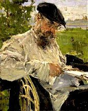 Reading the Newspaper - The Artist's Father - 1916 - Oil on Canvas