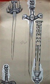 Design drawings for the Barsoomian sword and scabbard