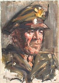 ERB portrait in uniform by son JCB