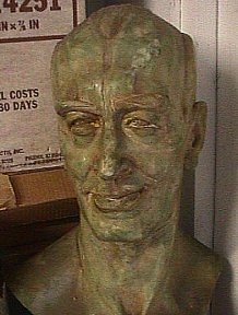 Original bust of ERB used for a molds to make replicas