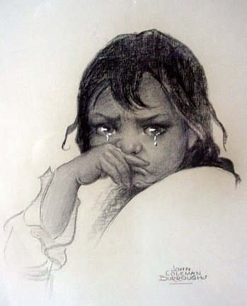Crying Girl by John Coleman Burroughs