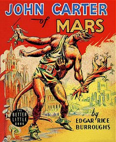 Reed Crandall Canaveral edition art for John Carter of Mars